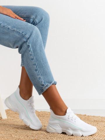 Pantofi sport cod 86001 White/Green