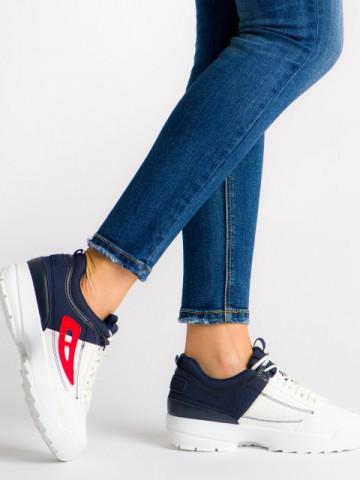 Pantofi sport cod A-11 White/Blue/Red