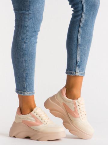 Pantofi sport cod A1055 Beige
