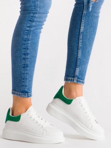 Pantofi sport cod AD119 White/Green