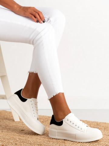 Pantofi sport cod B21-45A White/Black