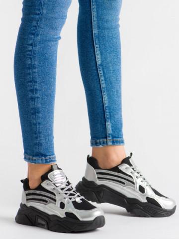 Pantofi sport cod B51 Silver