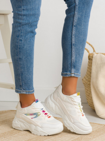 Pantofi sport cod BM590 White