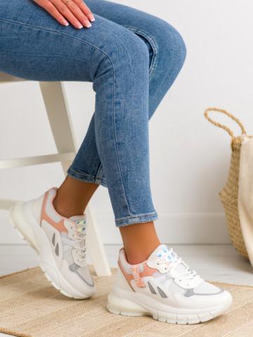 Pantofi sport cod BO553 White/Pink
