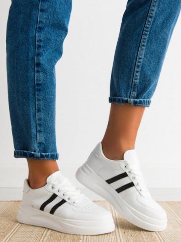Pantofi sport cod C55 White/Black