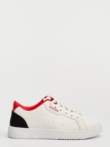Pantofi sport cod D766 White/Red