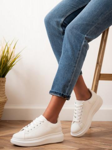 Pantofi sport cod D865 White