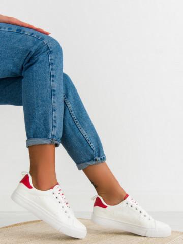 Pantofi sport cod H2205 White/Red