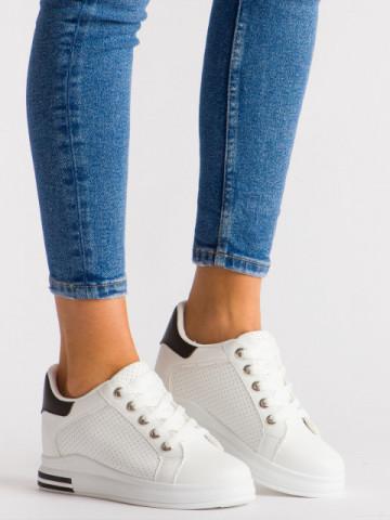 Pantofi sport cod KS1301 White/Black