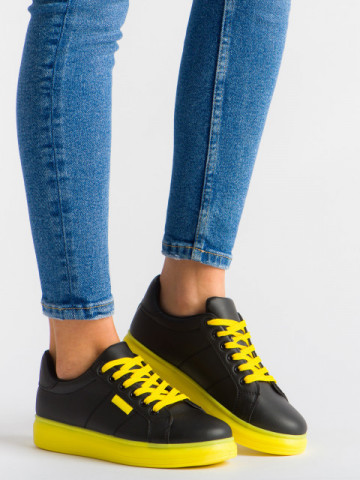 Pantofi sport cod YKQ191A Black/Yellow