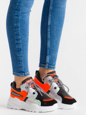 Pantofi sport cod YKQ203 Black/Orange
