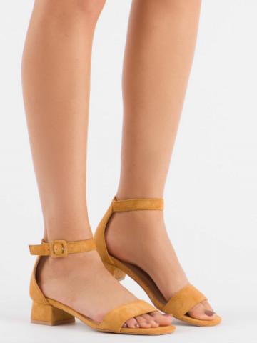 Sandale cu toc cod 3008 Camel