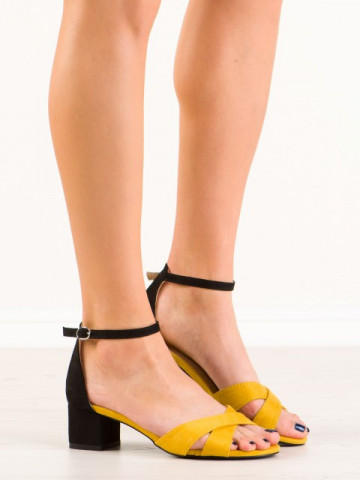 Sandale cu toc cod 3M81-16 Yellow
