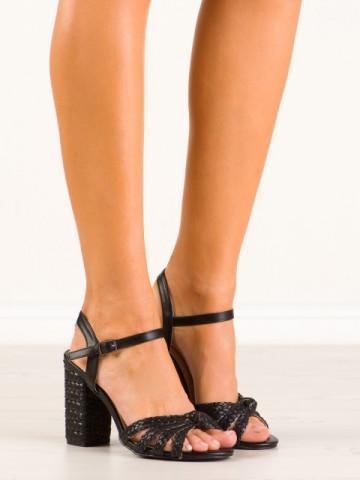 Sandale cu toc cod 9257-1 Black