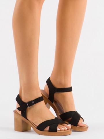 Sandale cu toc cod 9276 Negro