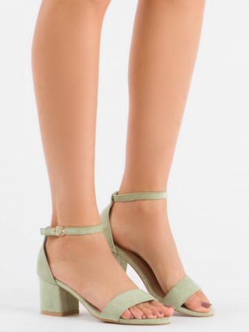 Sandale cu toc cod 99-36A Green