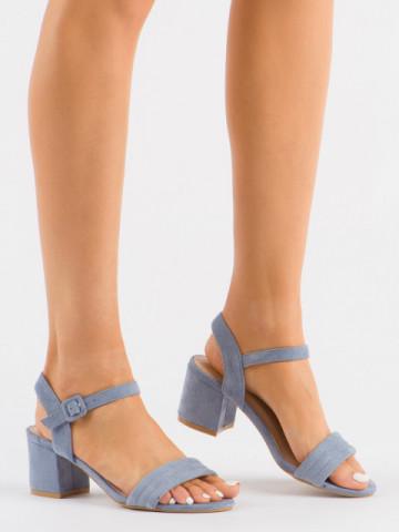 Sandale cu toc cod 99-61A Blue