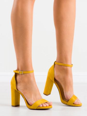 Sandale cu toc cod AF02 Earthy Yellow