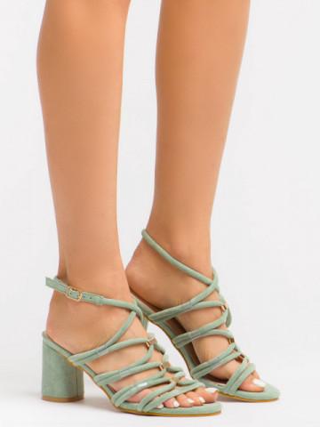 Sandale cu toc cod BL00094 Green
