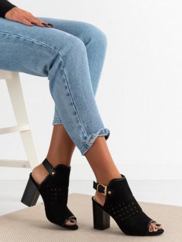 Sandale cu toc cod CZ10221 Black