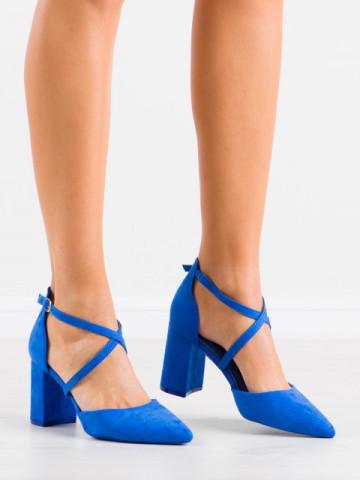 Sandale cu toc cod LE069 Blue