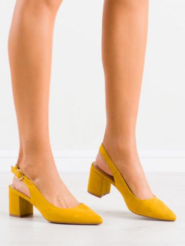 Sandale cu toc cod LL206 Yellow