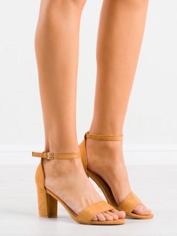 Sandale cu toc cod LL210 Camel