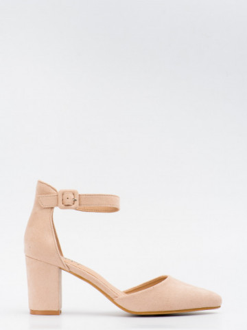 Sandale cu toc cod LL216 Beige