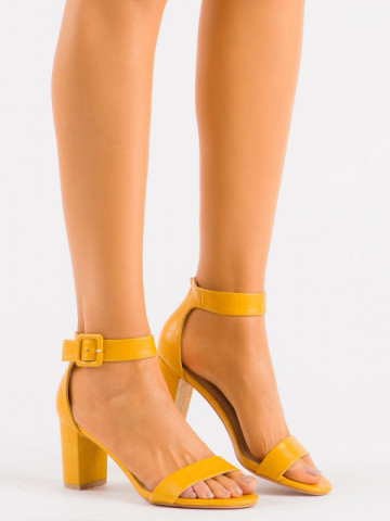 Sandale cu toc cod LU0031 Yellow
