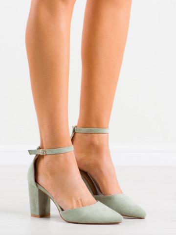 Sandale cu toc cod NC1007 Green