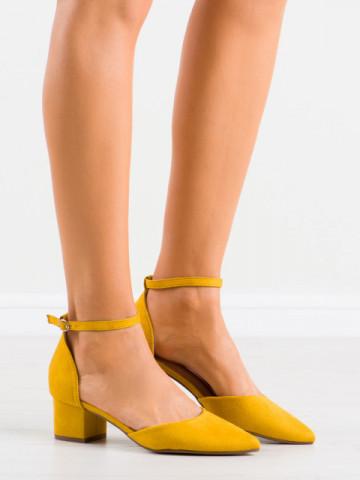 Sandale cu toc cod NF28 Yellow