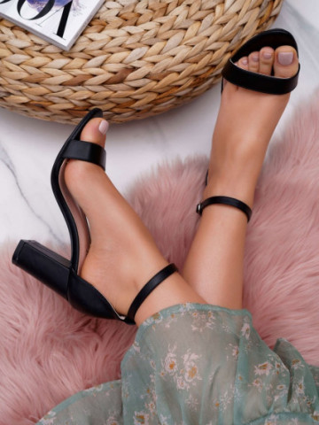 Sandale cu toc cod NF60 Black