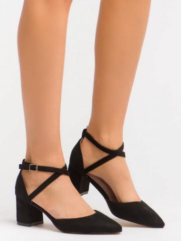 Sandale cu toc cod OD0208 Black