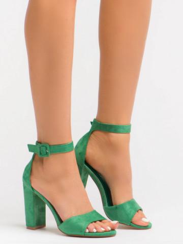 Sandale cu toc cod OD031 Green