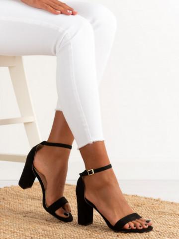 Sandale cu toc cod OD0351 Black