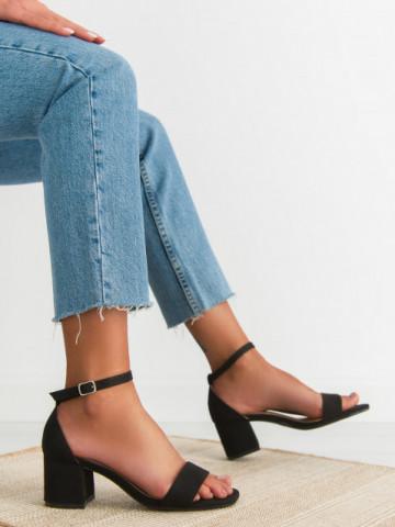 Sandale cu toc cod QL158 Black