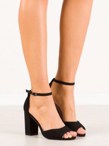 Sandale cu toc cod SH873 Black