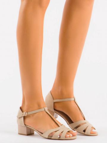 Sandale cu toc cod SH889 Khaki