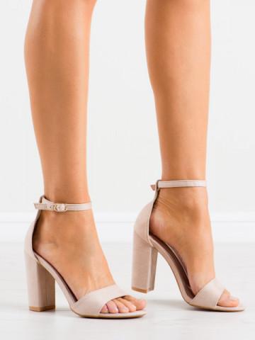 Sandale cu toc cod TU132 Apricot