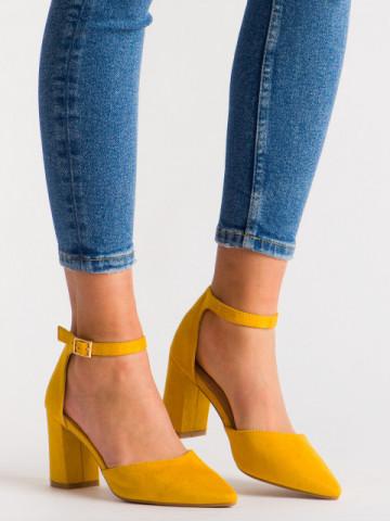 Sandale cu toc cod Y05-11 Yellow