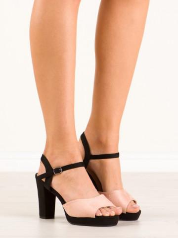 Sandale cu toc cod ZY160 Pink