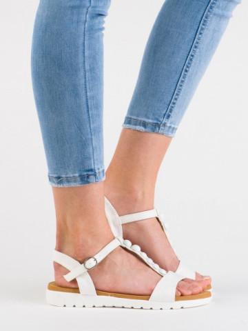 Sandale cod 17710 Blanco