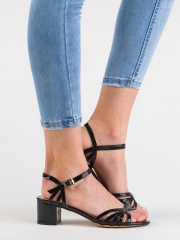Sandale cu toc cod 3150-35 Black