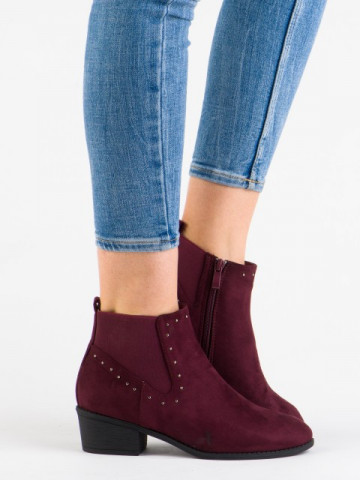 Botine cod 188-270 Wine Red