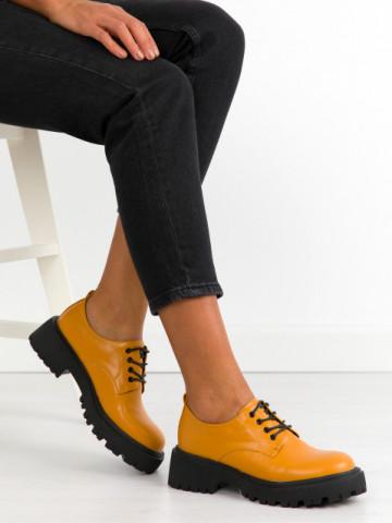 Pantofi casual cod KM16-18 Yellow