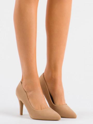 Pantofi cu toc cod 20-26A Beige