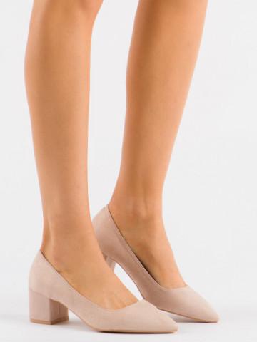 Pantofi cu toc cod 3837-1Y Nude
