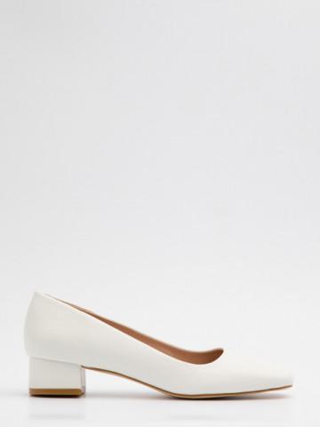 Pantofi cu toc cod A21-610 White