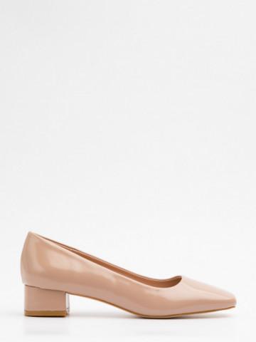 Pantofi cu toc cod A21-611 Beige