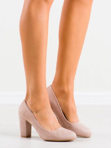 Pantofi cu toc cod DH01 Beige